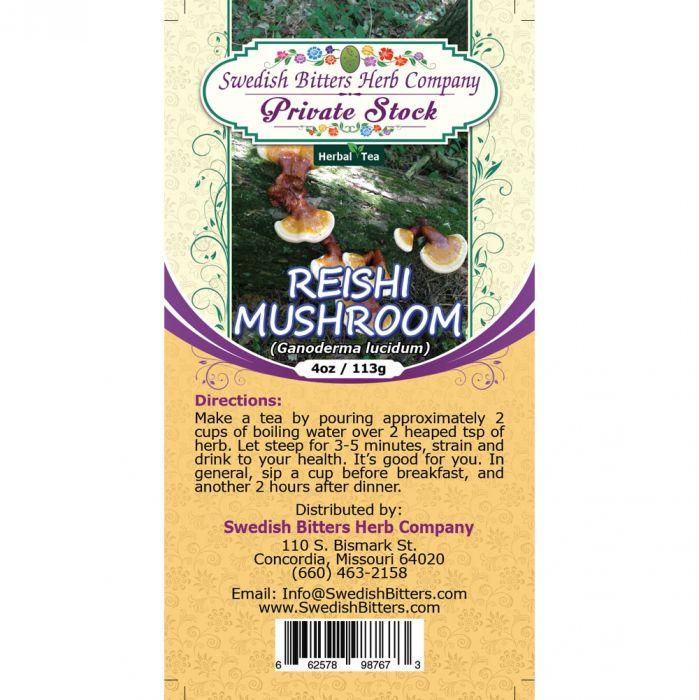 Reishi Mushroom (Ganoderma lucidum) Herbal Tea (4oz/113g) - Swedish Bitters  Herb Company Private Stock