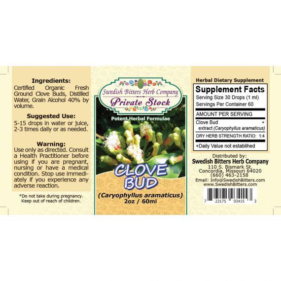 Clove Bud, tincture (2oz/59ml) - Swedish Bitters Herb Company Private Stock