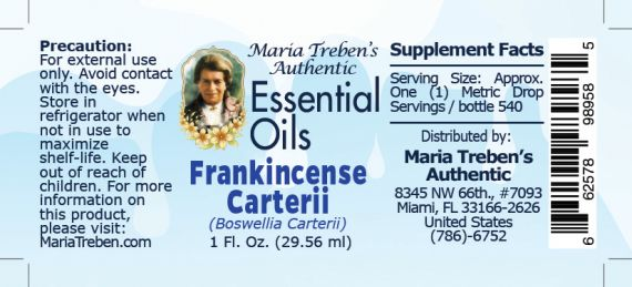Frankincense Carterii (Boswellia carterii) - 30 ml.