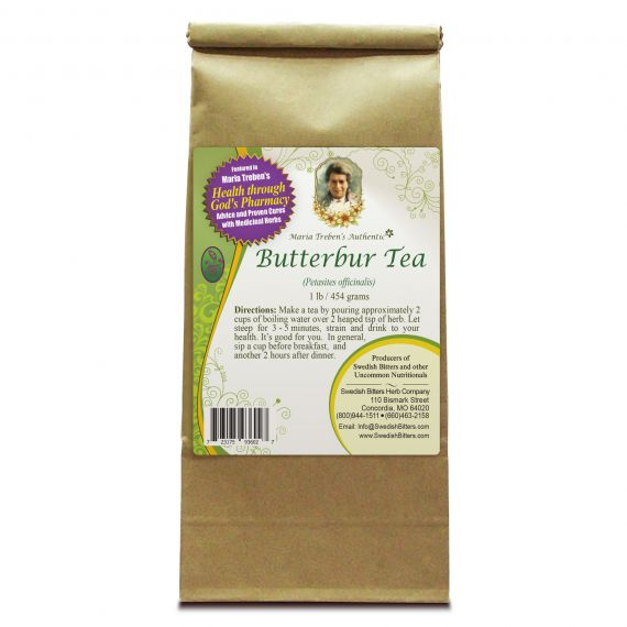 Butterbur Tea (1lb/454g) BULK - Maria Treben's Authentic™