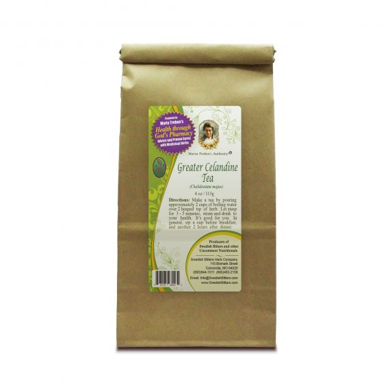 Greater Celandine Tea (4oz/113g)  - Maria Treben's Authentic™