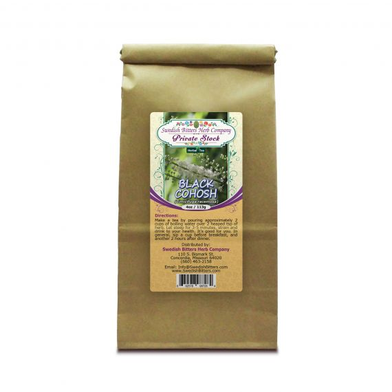 Black Cohosh Root (Cimicifuga racemosa) Herbal Tea (4oz/113g) - Swedish Bitters Herb Company Private Stock