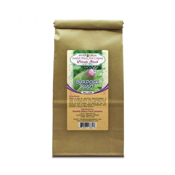 Burdock Root (Cimicifuga racemosa) Herbal Tea (4oz/113g) - Swedish Bitters Herb Company Private Stock