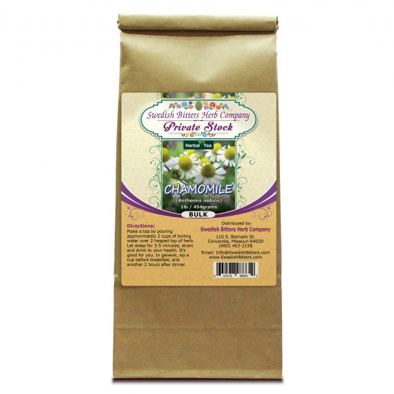 Chamomile Flower (Anthemis nobilis) Herbal Tea (1lb/454g) BULK - Swedish Bitters Herb Company Private Stock