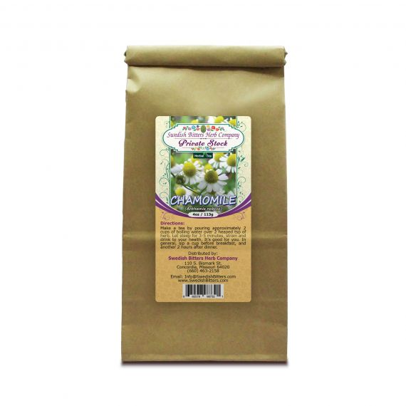 Chamomile Flower (Anthemis nobilis) Herbal Tea (4oz/113g) - Swedish Bitters Herb Company Private Stock