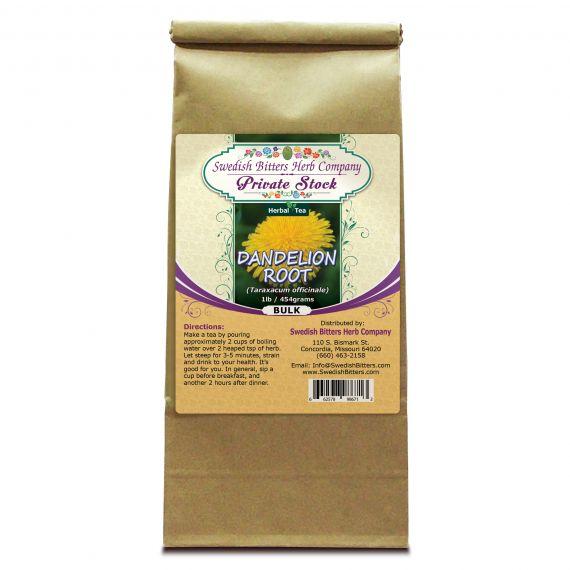 Dandelion Root (Taraxacum officinale) Herbal Tea (1lb/454g) BULK - Swedish Bitters Herb Company Private Stock
