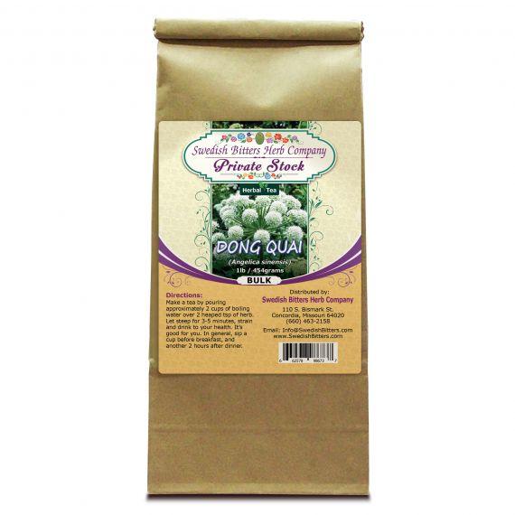 Dong Quai Root (Angelica sinensis) Herbal Tea (1lb/454g) BULK - Swedish Bitters Herb Company Private Stock