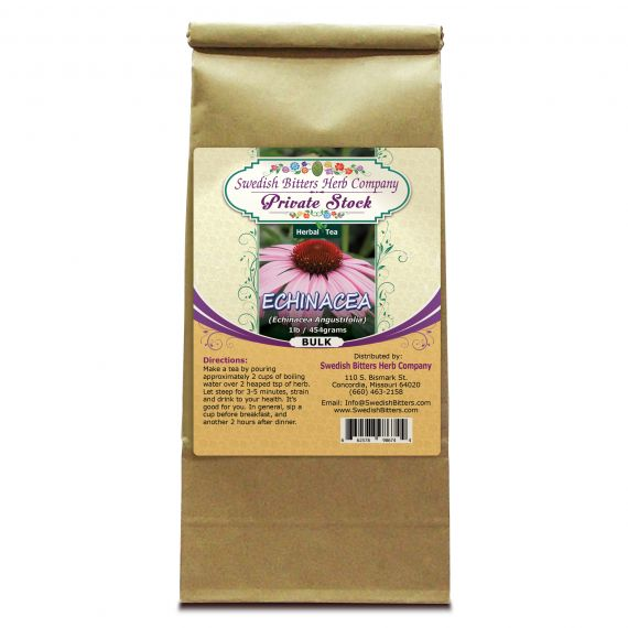 Echinacea (Echinacea Angustifolia L.) Herbal Tea (1lb/454g) BULK - Swedish Bitters Herb Company Private Stock