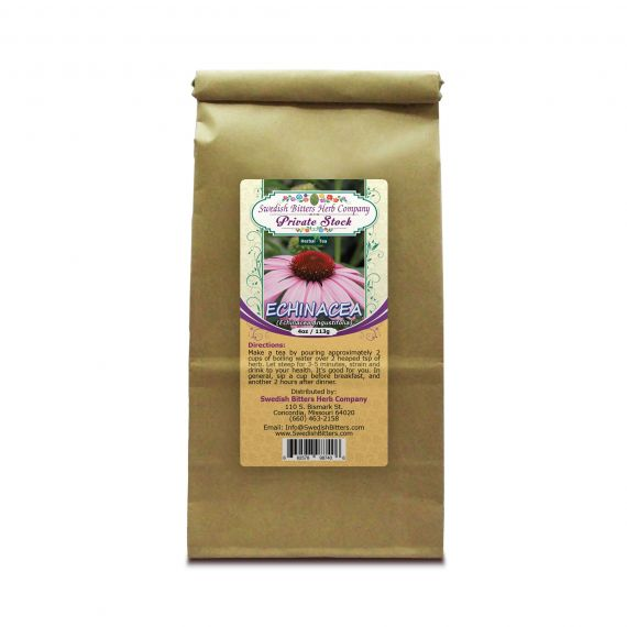 Echinacea (Echinacea Angustifolia L.) Herbal Tea (4oz/113g) - Swedish Bitters Herb Company Private Stock