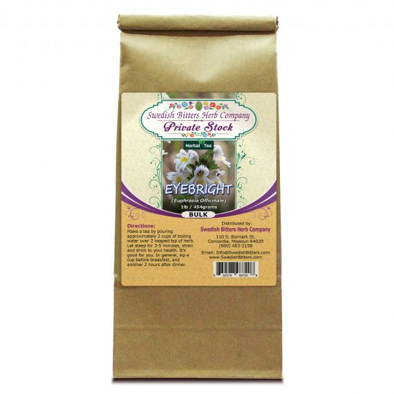 Eyebright Leaf (Euphrasia fficinalis) Herbal Tea (1lb/454g) BULK - Swedish Bitters Herb Company Private Stock