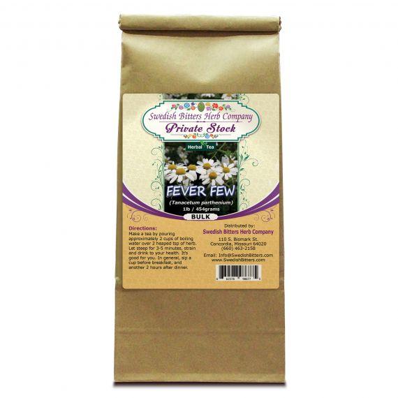 Feverfew Leaf (Tanacetum Parthenium) Herbal Tea (1lb/454g) BULK - Swedish Bitters Herb Company Private Stock