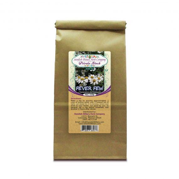 Feverfew Leaf (Tanacetum Parthenium) Herbal Tea (4oz/113g) - Swedish Bitters Herb Company Private Stock