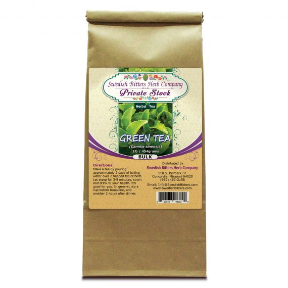 Green Tea (Camilla sinensis)(1lb/454g) BULK - Swedish Bitters Herb Company Private Stock