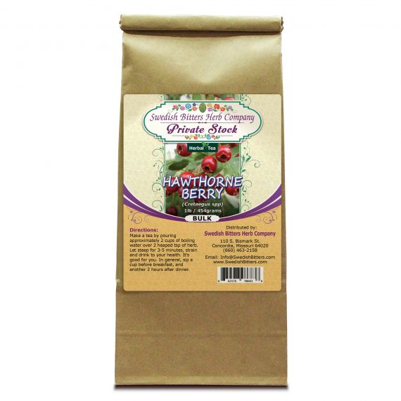 Hawthorne Berry (Cretaegus Oxycanthus) Herbal Tea (1lb/454g) BULK - Swedish Bitters Herb Company Private Stock
