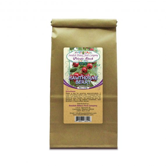 Hawthorne Berry (Cretaegus Oxycanthus) Herbal Tea (4oz/113g) - Swedish Bitters Herb Company Private Stock