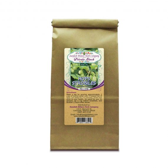 Hops Strobiles (Humulus Lupulus) Herbal Tea (4oz/113g) - Swedish Bitters Herb Company Private Stock