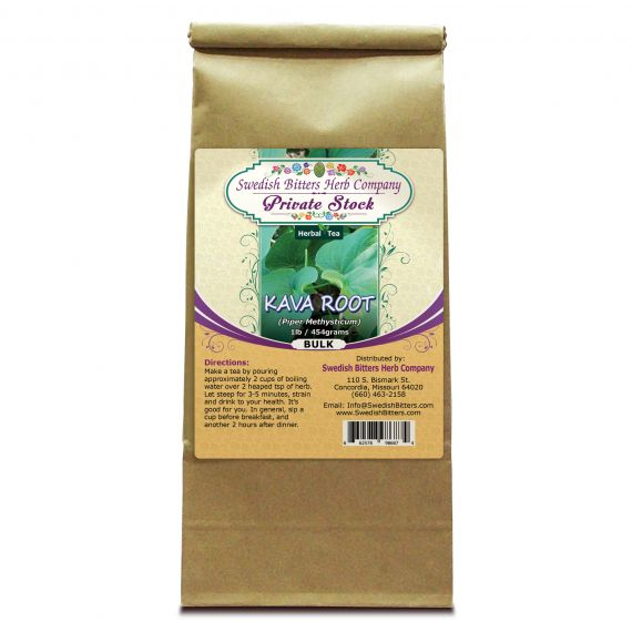 Kava Root (Piper Methysticum) Herbal Tea (1lb/454g) BULK - Swedish Bitters Herb Company Private Stock
