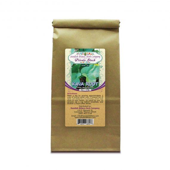Kava Root (Piper Methysticum) Herbal Tea (4oz/113g) - Swedish Bitters Herb Company Private Stock