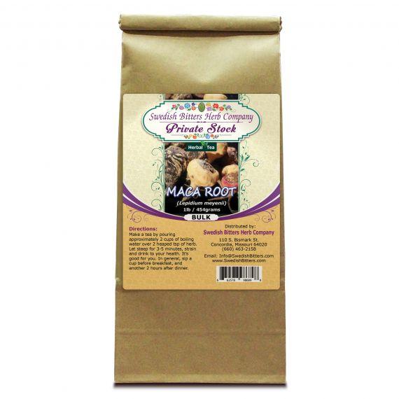 Maca Root (Lepidum meyenii) Herbal Tea (1lb/454g) BULK - Swedish Bitters Herb Company Private Stock