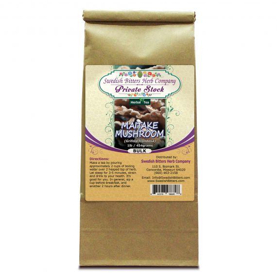 Maitake Mushroom (Grifola frondosa) Herbal Tea (1lb/454g) BULK - Swedish Bitters Herb Company Private Stock