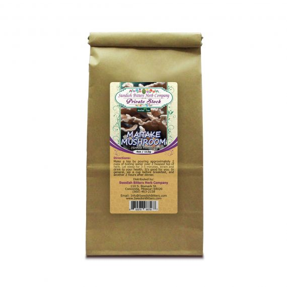 Maitake Mushroom (Grifola frondosa) Herbal Tea (4oz/113g) - Swedish Bitters Herb Company Private Stock