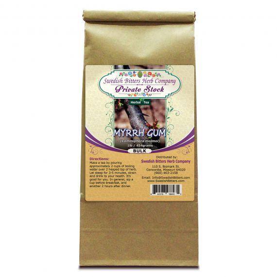 Myrrh Gum (Commiphora Myrrha) Herbal Tea (1lb/454g) BULK - Swedish Bitters Herb Company Private Stock