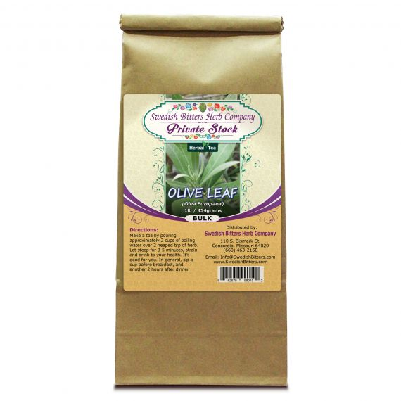Olive Leaf (Olea Europaea) Herbal Tea (1lb/454g) BULK - Swedish Bitters Herb Company Private Stock