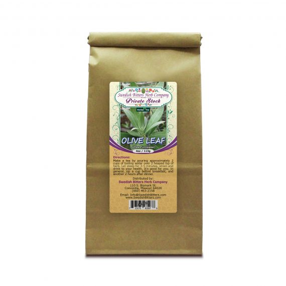 Olive Leaf (Olea Europaea) Herbal Tea (4oz/113g) - Swedish Bitters Herb Company Private Stock