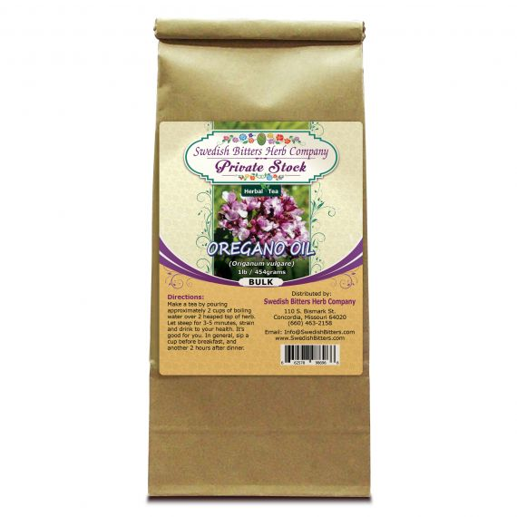 Oregano (Origanum vulgare) Herbal Tea (1lb/454g) BULK - Swedish Bitters Herb Company Private Stock