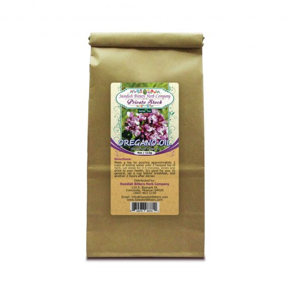Oregano (Origanum vulgare) Herbal Tea (4oz/113g) - Swedish Bitters Herb Company Private Stock