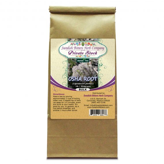 Osha Root (Ligusticum porteri) Herbal Tea (1lb/454g) BULK - Swedish Bitters Herb Company Private Stock