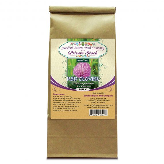 Red Clover Blossoms (Trifolium pratense) Herbal Tea (1lb/454g) BULK - Swedish Bitters Herb Company Private Stock
