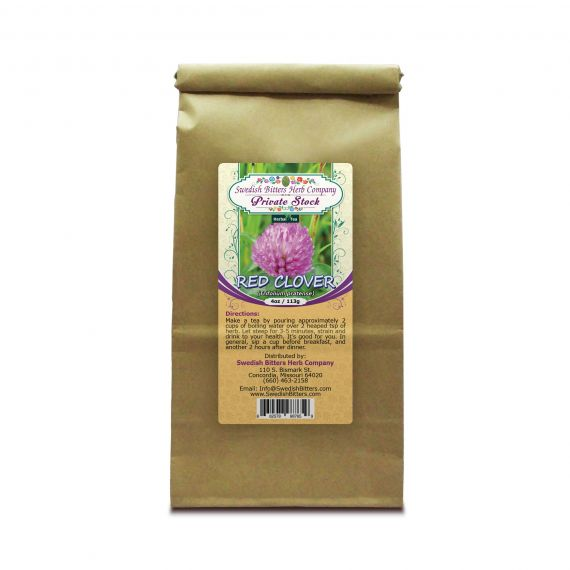 Red Clover Blossoms (Trifolium pratense) Herbal Tea (4oz/113g) - Swedish Bitters Herb Company Private Stock
