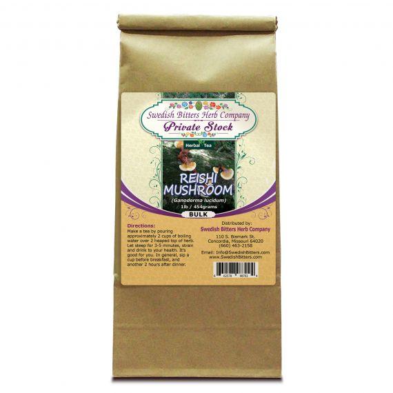 Reishi Mushroom (Ganoderma lucidum) Herbal Tea (1lb/454g) BULK - Swedish Bitters Herb Company Private Stock