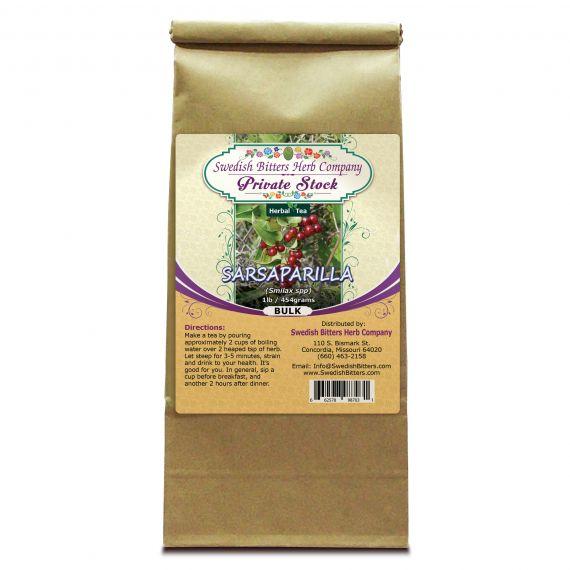 Sarsaparilla Root (Smilax Specie) Herbal Tea (1lb/454g) BULK - Swedish Bitters Herb Company Private Stock