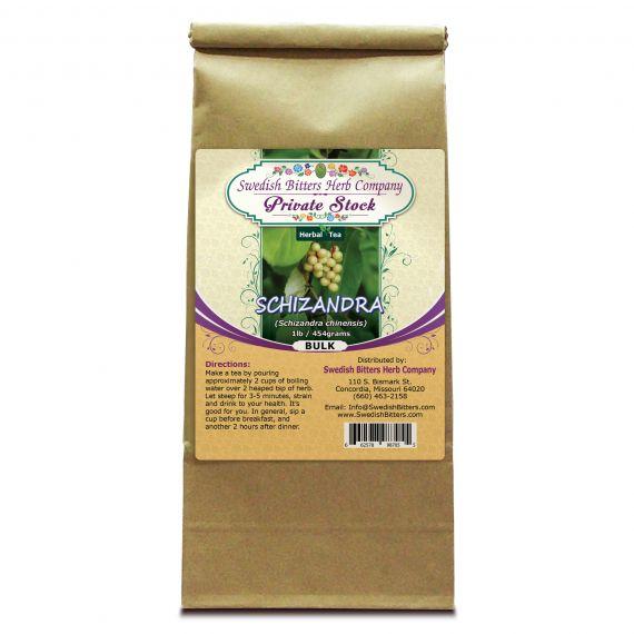 Schizandra Berry (Schizandra Chinensis) Herbal Tea (1lb/454g) BULK - Swedish Bitters Herb Company Private Stock