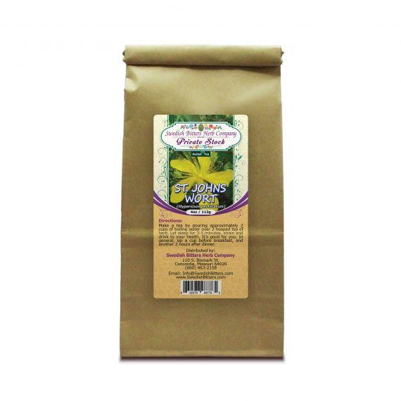 St. John's Wort Flowering Tops (Hypericum Perforatum) Herbal Tea (4oz/113g) - Swedish Bitters Herb Company Private Stock