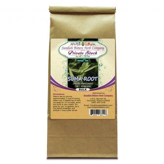 Suma Root (Pfaffia Paniculata) Herbal Tea (1lb/454g) BULK - Swedish Bitters Herb Company Private Stock