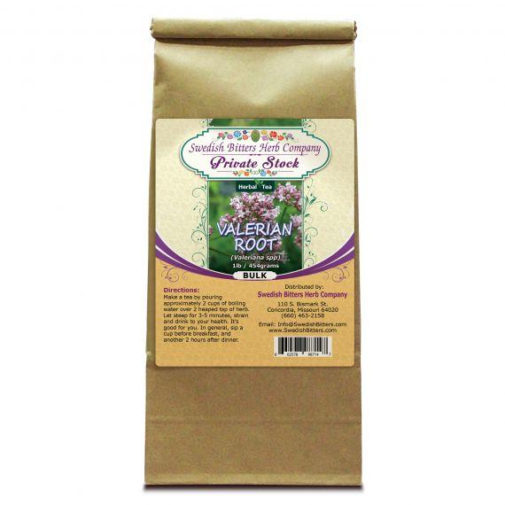 Valerian Root (Valeriana Officinalis) Herbal Tea (1lb/454g) BULK - Swedish Bitters Herb Company Private Stock