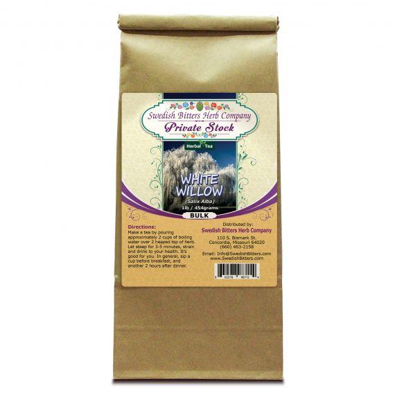 White Willow Bark (Salix Alba) Herbal Tea (1lb/454g) BULK - Swedish Bitters Herb Company Private Stock