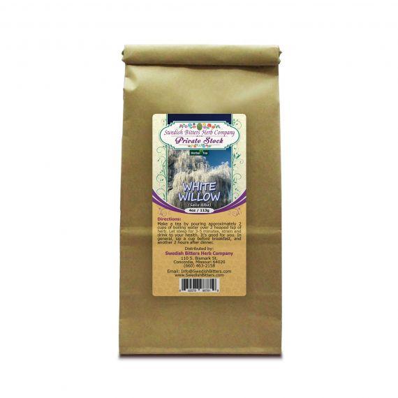 White Willow Bark (Salix Alba) Herbal Tea (4oz/113g) - Swedish Bitters Herb Company Private Stock