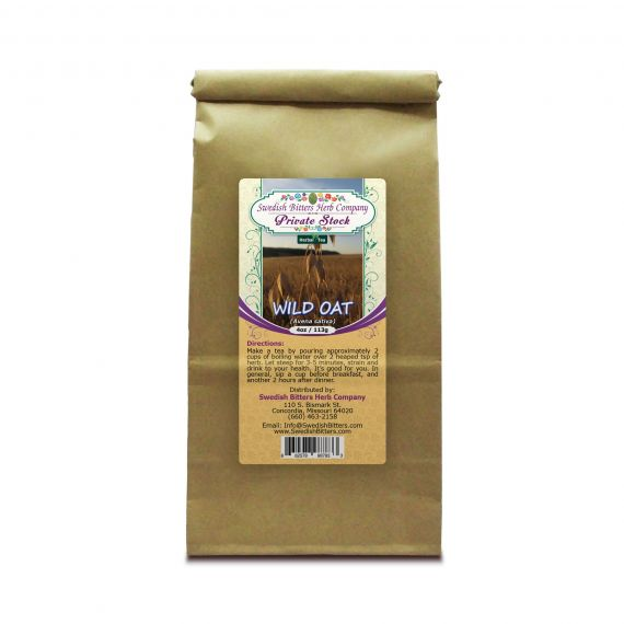 Wild Oat (Avena sativa) Herbal Tea (4oz/113g) - Swedish Bitters Herb Company Private Stock