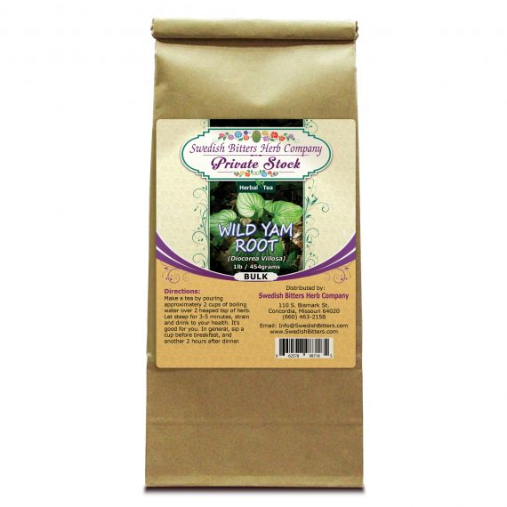 Wild Yam Root (Dioscorea Villosa) 1lb/454g BULK Herbal Tea - Swedish Bitters Herb Company Private Stock