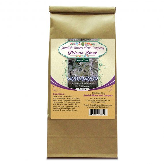 Wormwood Leaf (Artemisia Absinthium) Herbal Tea (1lb/454g) BULK - Swedish Bitters Herb Company Private Stock