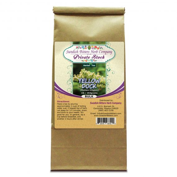 Yellow Dock (Rumex crispus) Herbal Tea (1lb/454g) BULK - Swedish Bitters Herb Company Private Stock
