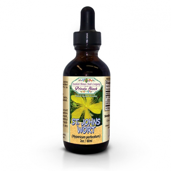 St. John's Wort Flowering Tops, tincture (2oz/59ml) - Swedish Bitters Herb Company Private Stock