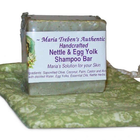 Nettle & Egg Yolk Handcrafted Shampoo Bar (3oz Bar) - Maria Treben's Authentic™