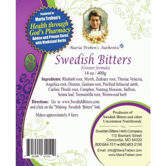 Swedish Bitters Dry Mixture [Greater] (14oz/400g) BULK - Maria Treben's Authentic™