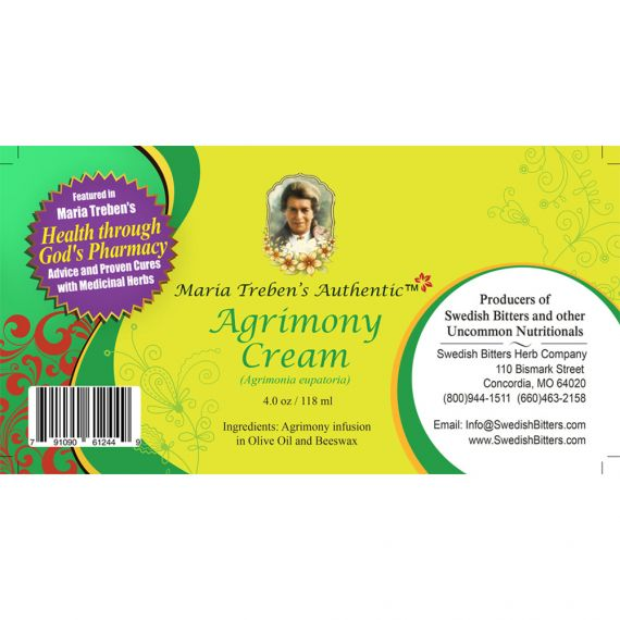 Agrimony Cream (4oz/118ml) - Maria Treben's Authentic™