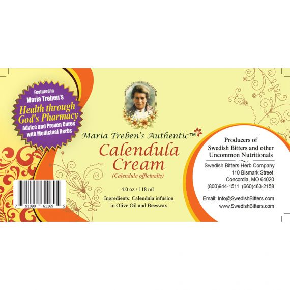 Calendula (Marigold) Cream (4oz/118ml) - Maria Treben's Authentic™